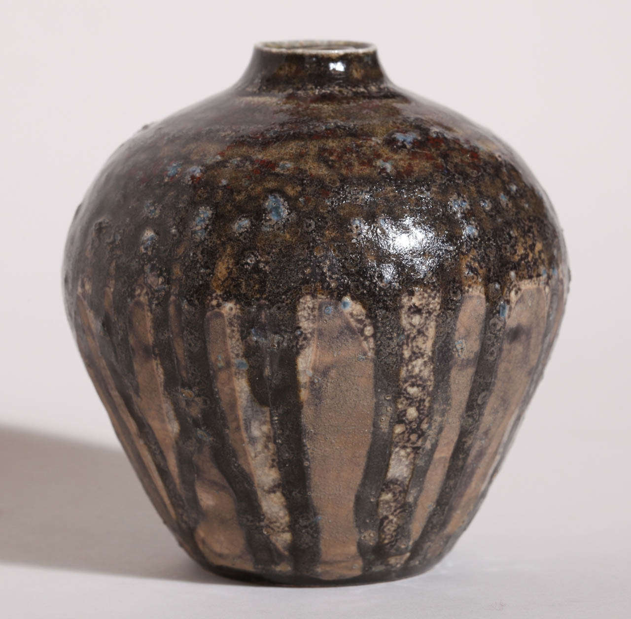 Henri Simmen French Art Deco Small Stoneware Vase For Sale 1