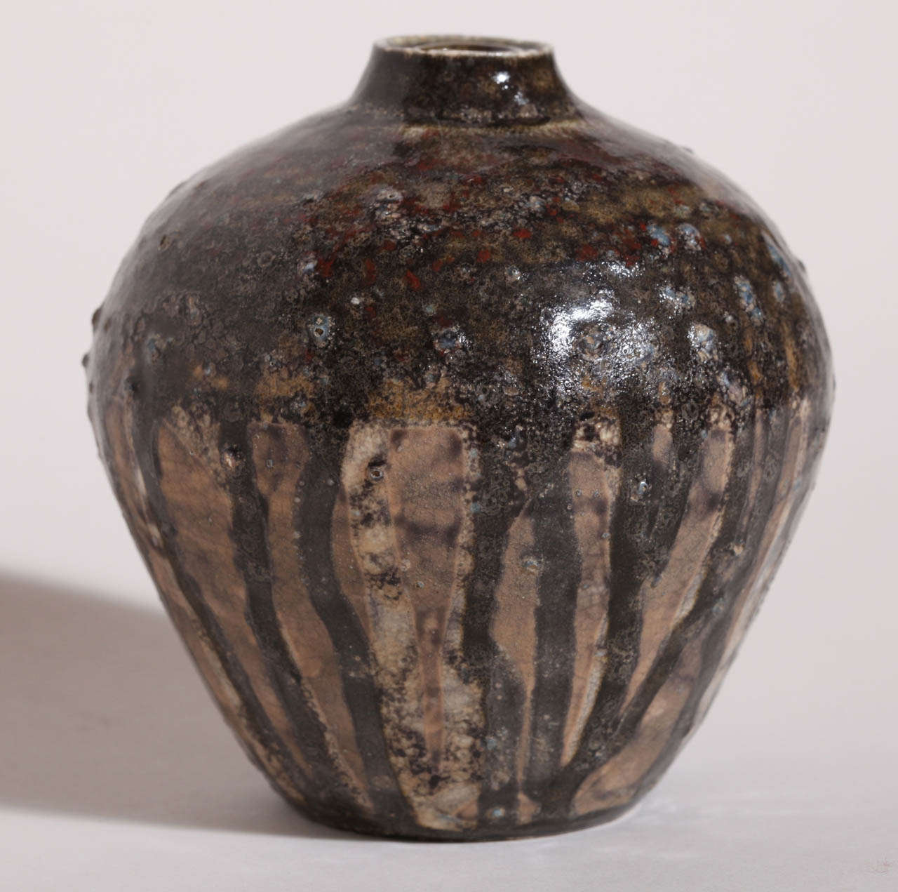 Henri Simmen French Art Deco Small Stoneware Vase For Sale 2