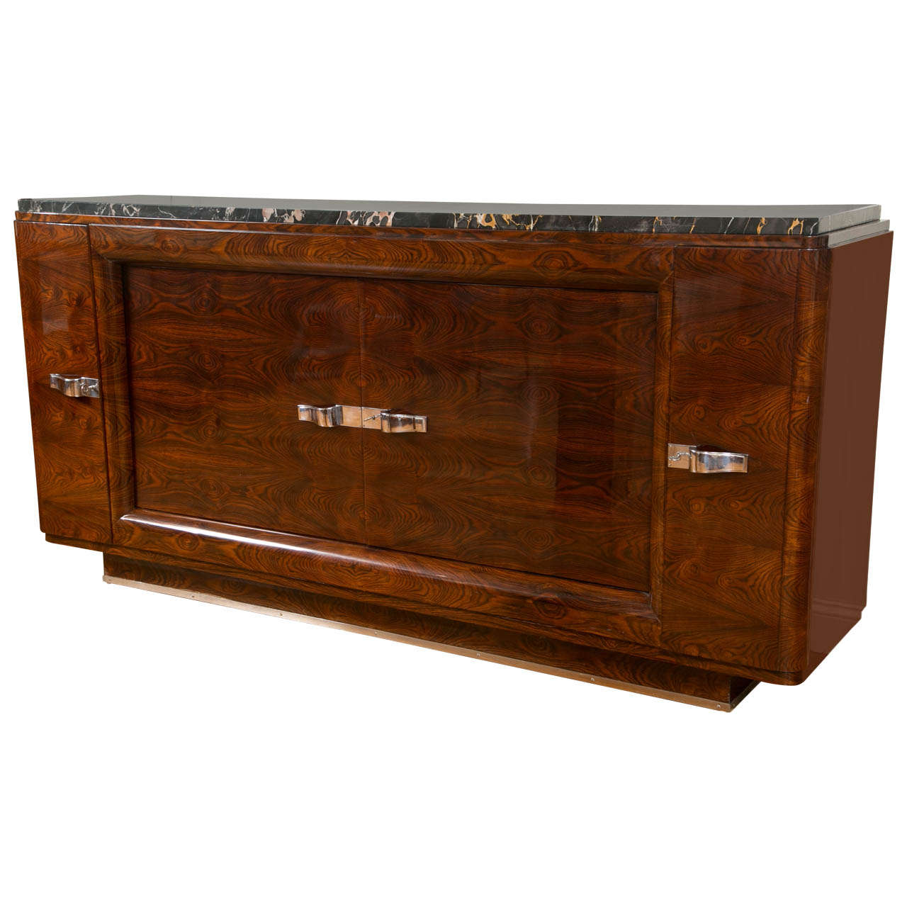 french art moderne credenza sideboard at 1stdibs. Black Bedroom Furniture Sets. Home Design Ideas