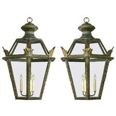 Italian Antiqued Hexagonal Lantern