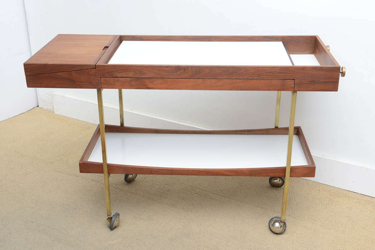 mid century modern cool paul mccobb bar cart server at stdibs mid century modern cool paul mccobb bar cart server 2