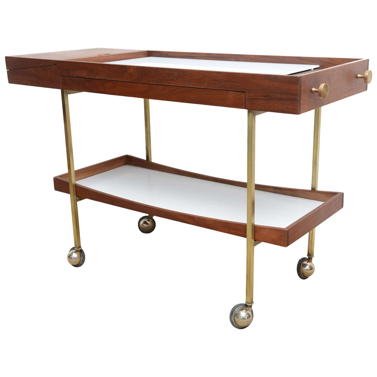 mid century modern cool paul mccobb bar cart server at stdibs mid century modern cool paul mccobb bar cart server 1