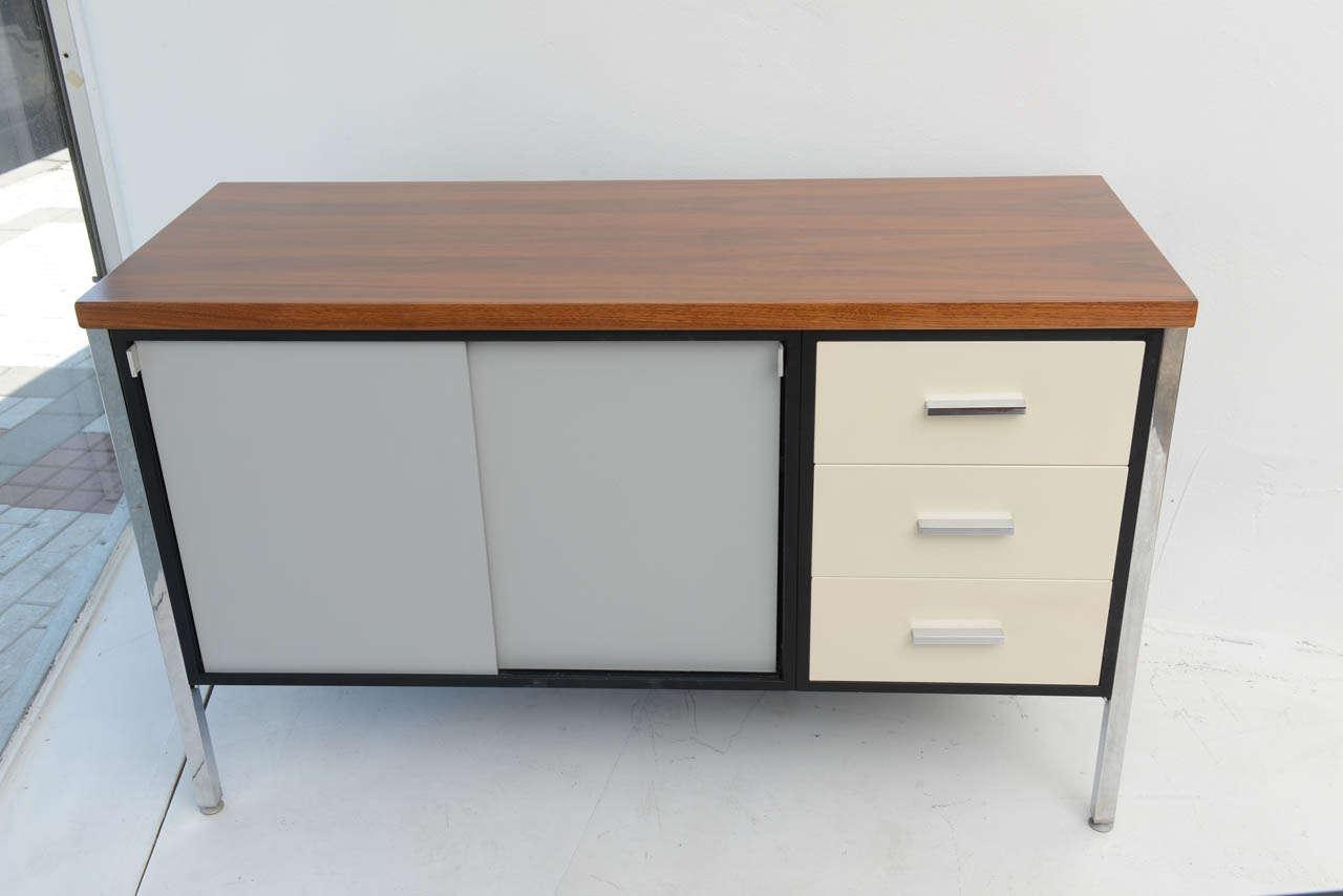 Mid century modern art metal for knoll credenza office for Modern office credenza