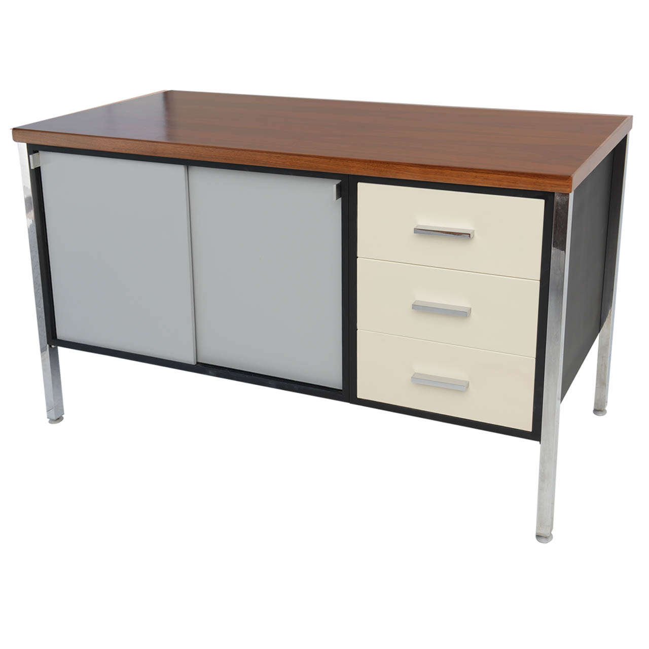 Mid Century Modern Art Metal for Knoll Credenza Office Cabinet at 1stdibs