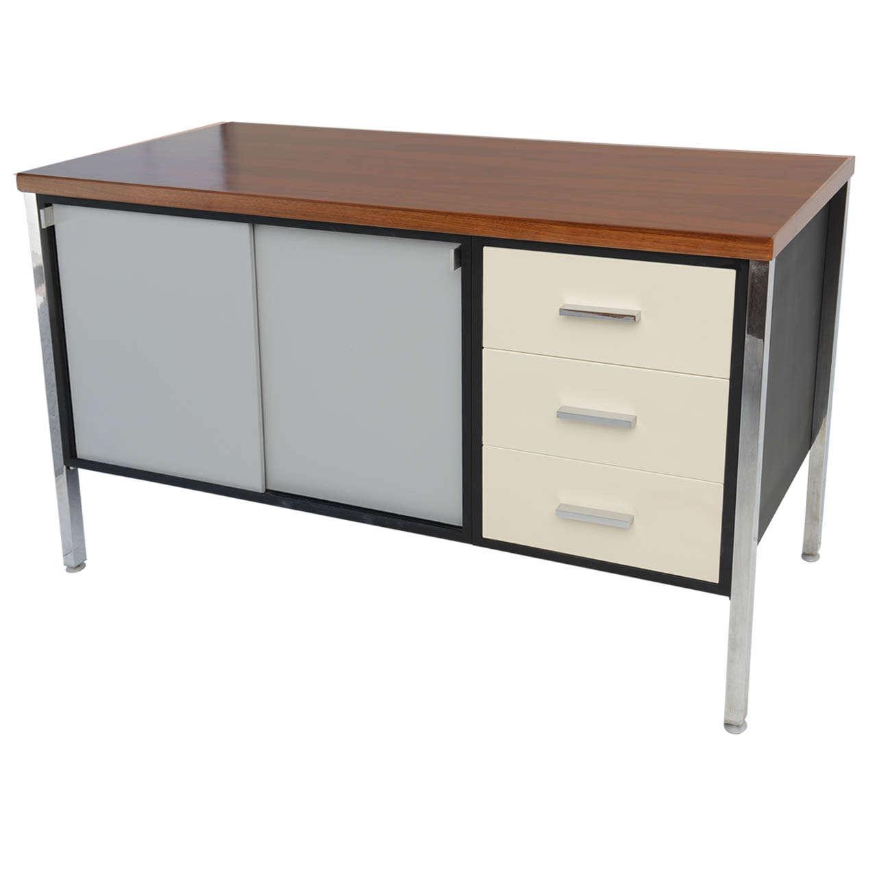 Mid century modern art metal for knoll credenza office for Modern office credenza furniture