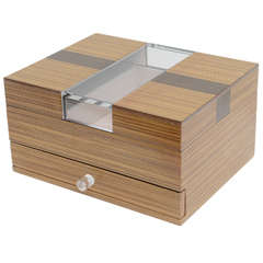 Elegant Mid-Century Modern Deco Style Exotic Wood or Lucite Box