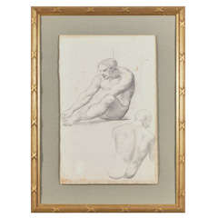 18th Century Male Study Drawing