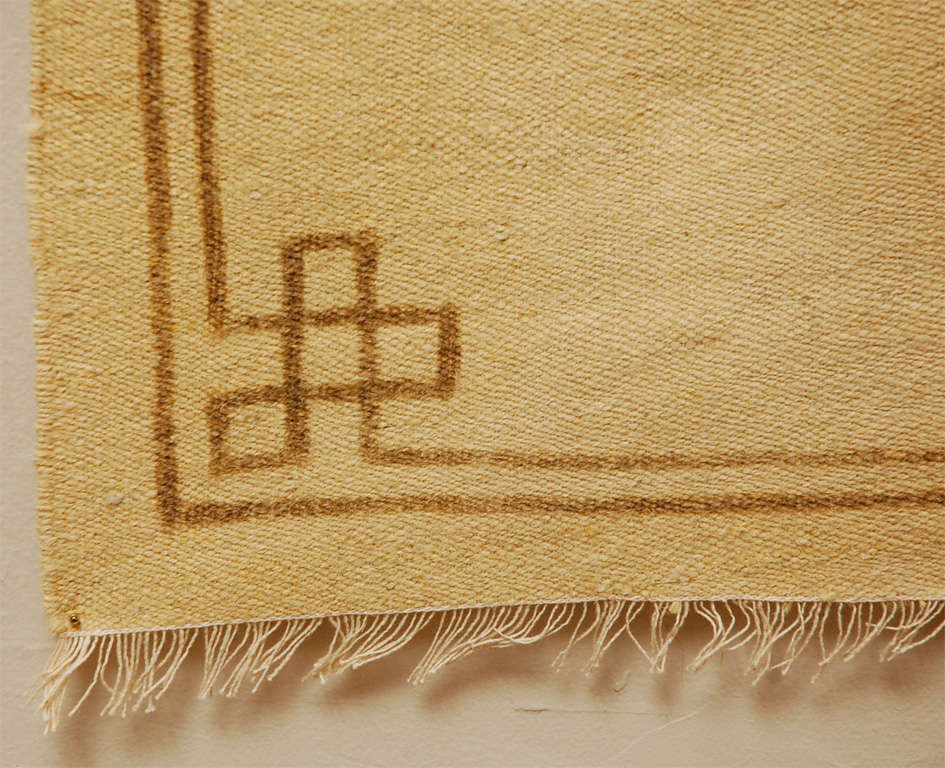 Mongolian Rug Tapestry With Crane Motif At 1stdibs
