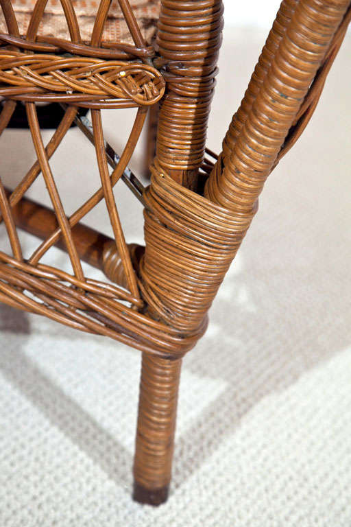 Antique Ficks Reed Wicker Set At 1stdibs