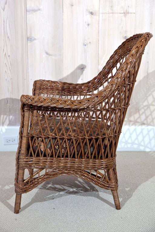 Antique Bar Harbor Wicker Set At 1stdibs
