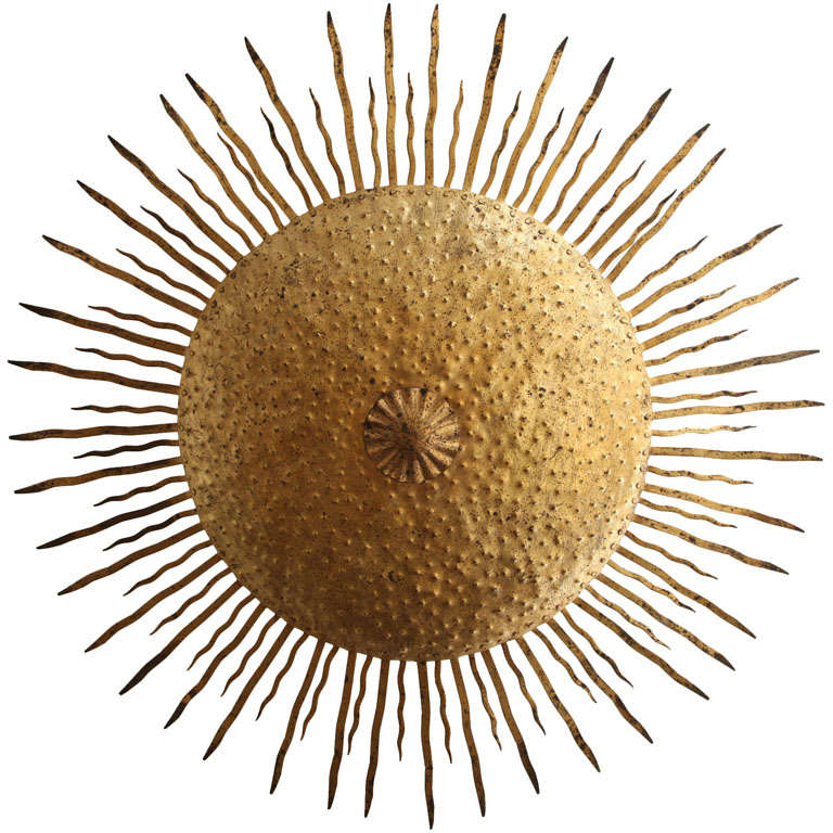 Sun Ceiling Sconce At 1stdibs