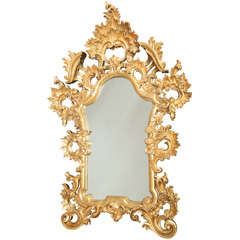 Mirror with Gilt Floral Frame
