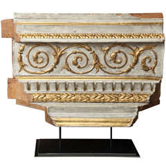 Architectural Fragment with Gilt Detail