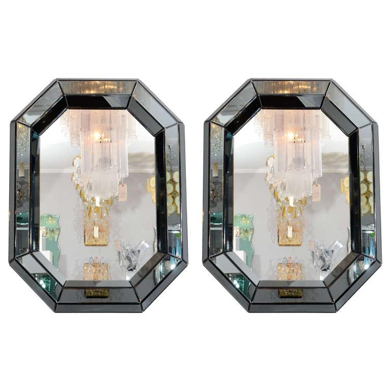Custom smoked glass mirror for sale at 1stdibs for Custom mirror glass