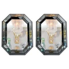 Custom Smoked Gray Glass Octagon Mirror