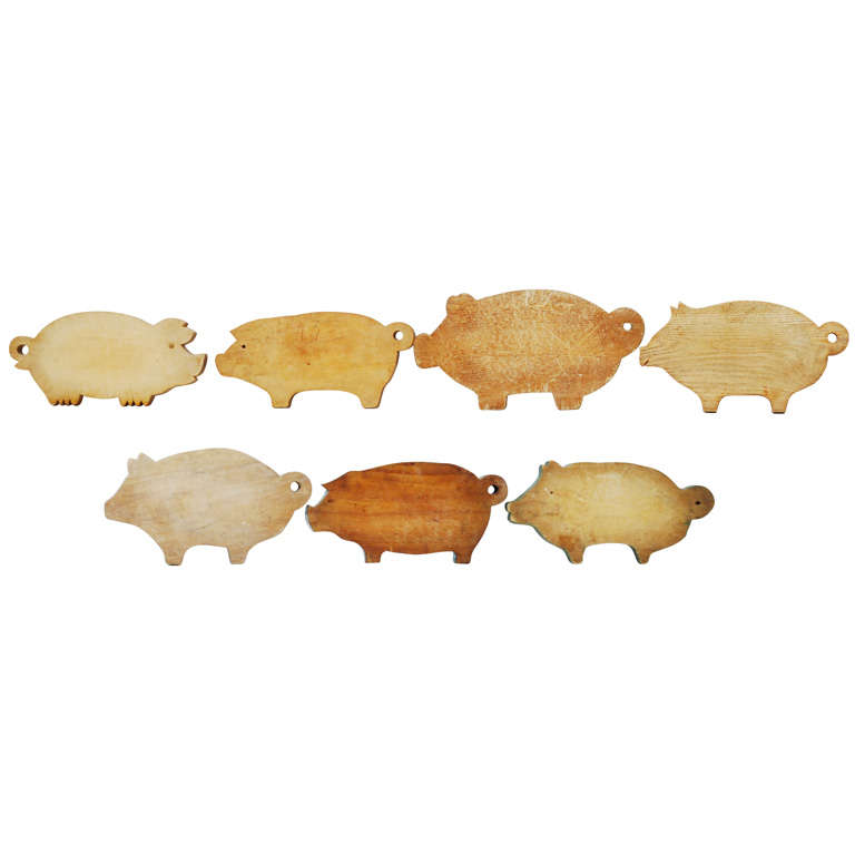 Collection Of Pig Cutting Boards At 1stdibs
