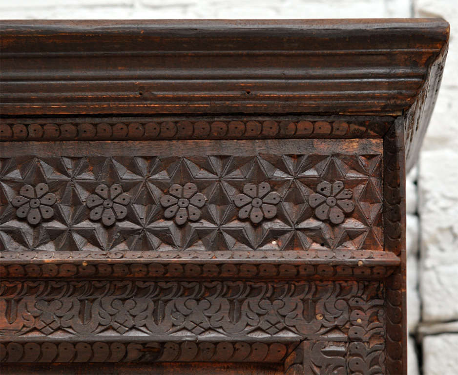 Antique Indian Hand Carved Bookcase At 1stdibs