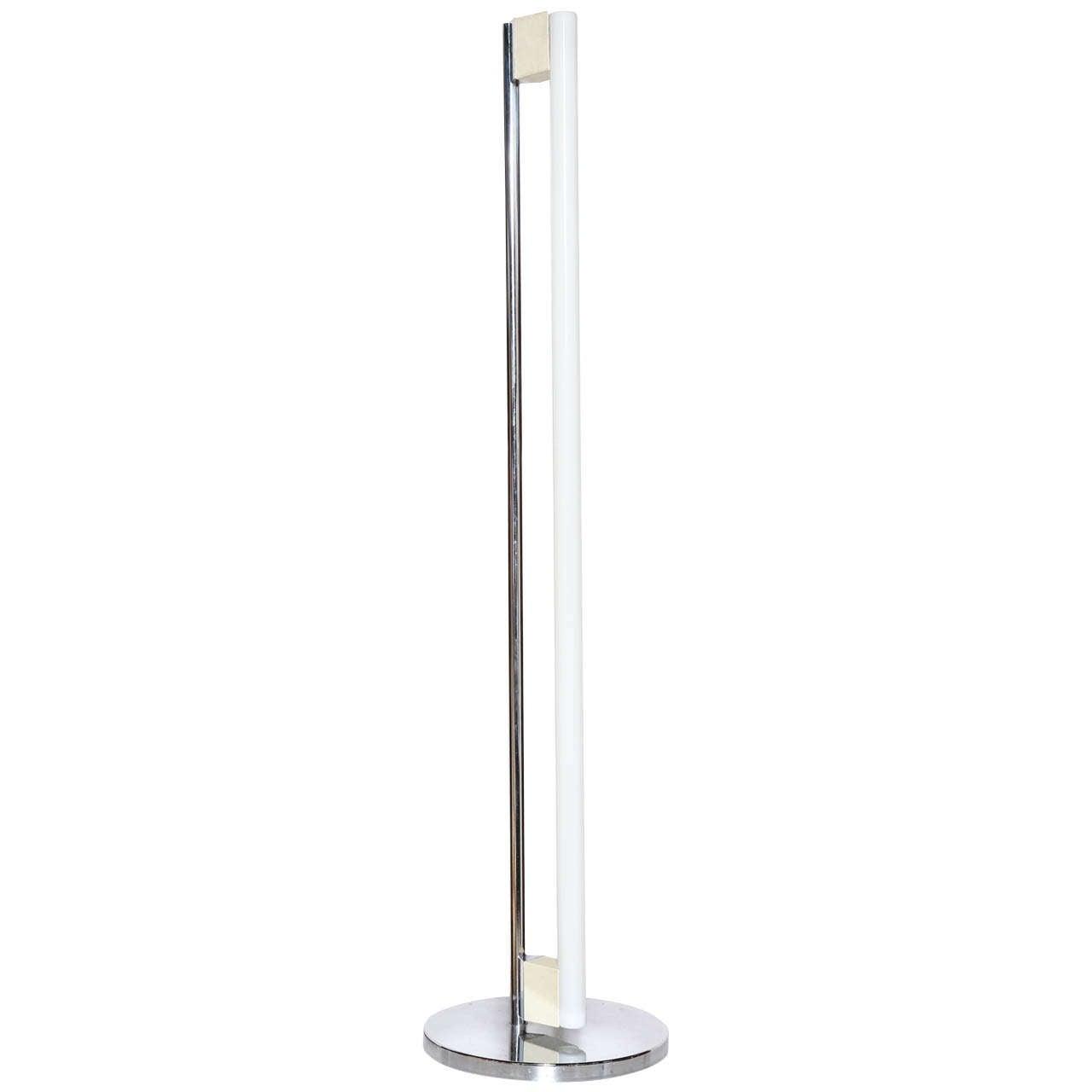 Eileen Gray designed Fluorescent Tube Floor Lamp at 1stdibs