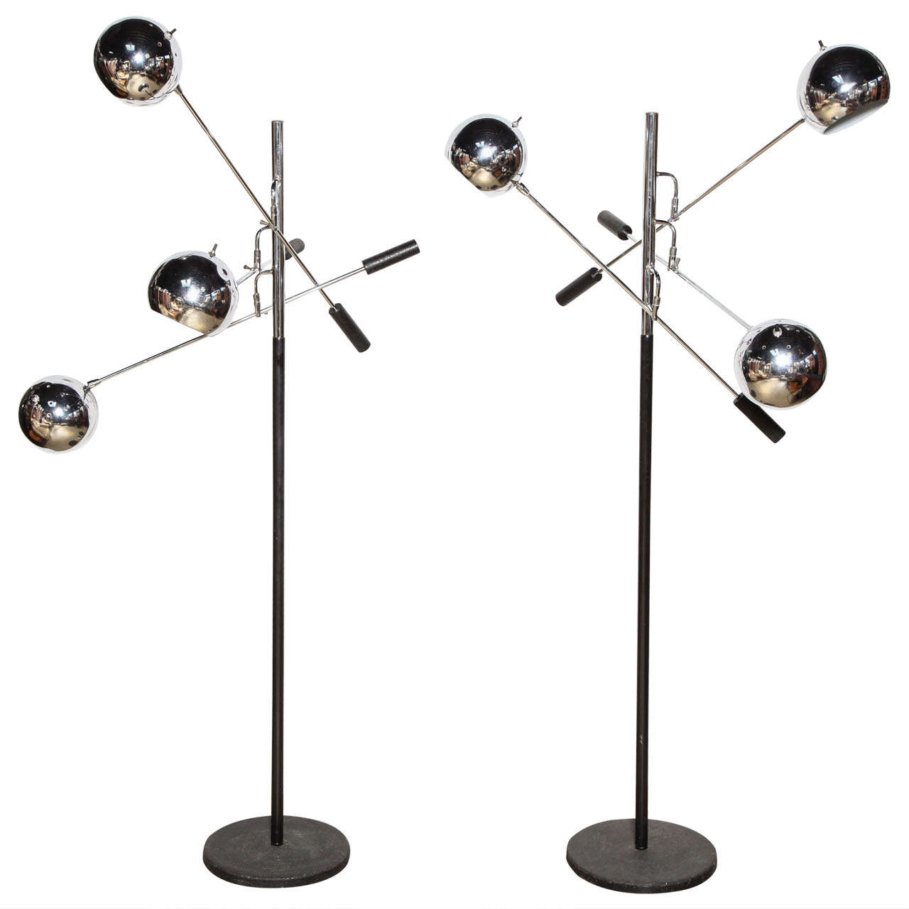 Pair of robert sonneman orbiter floor lamps at 1stdibs pair of robert sonneman orbiter floor lamps aloadofball Images