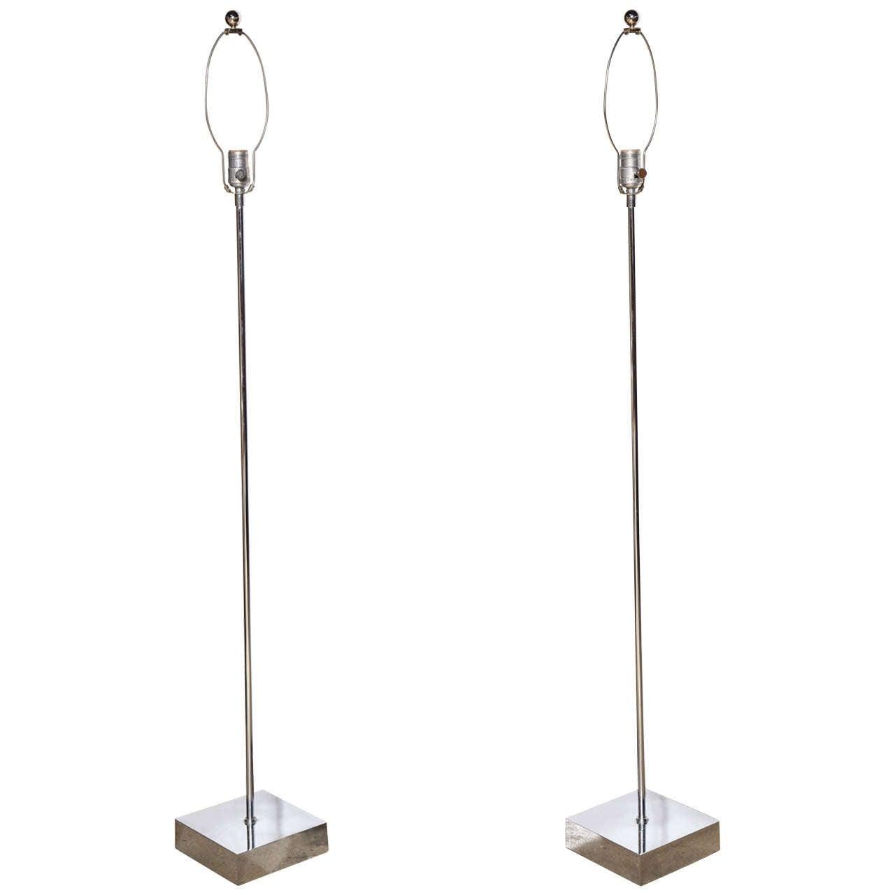 Pair of 196039s quothabitatquot chrome floor lamps at 1stdibs for Habitat chrome floor lamp