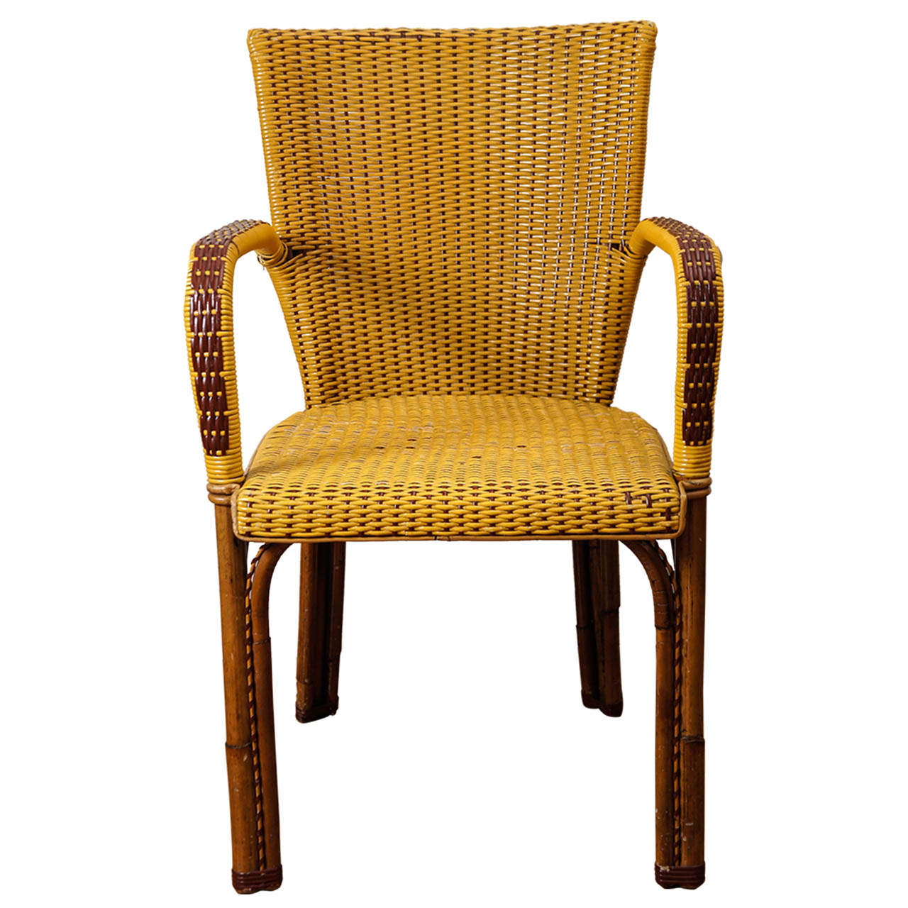 French Wicker Bistro Chairs For Sale