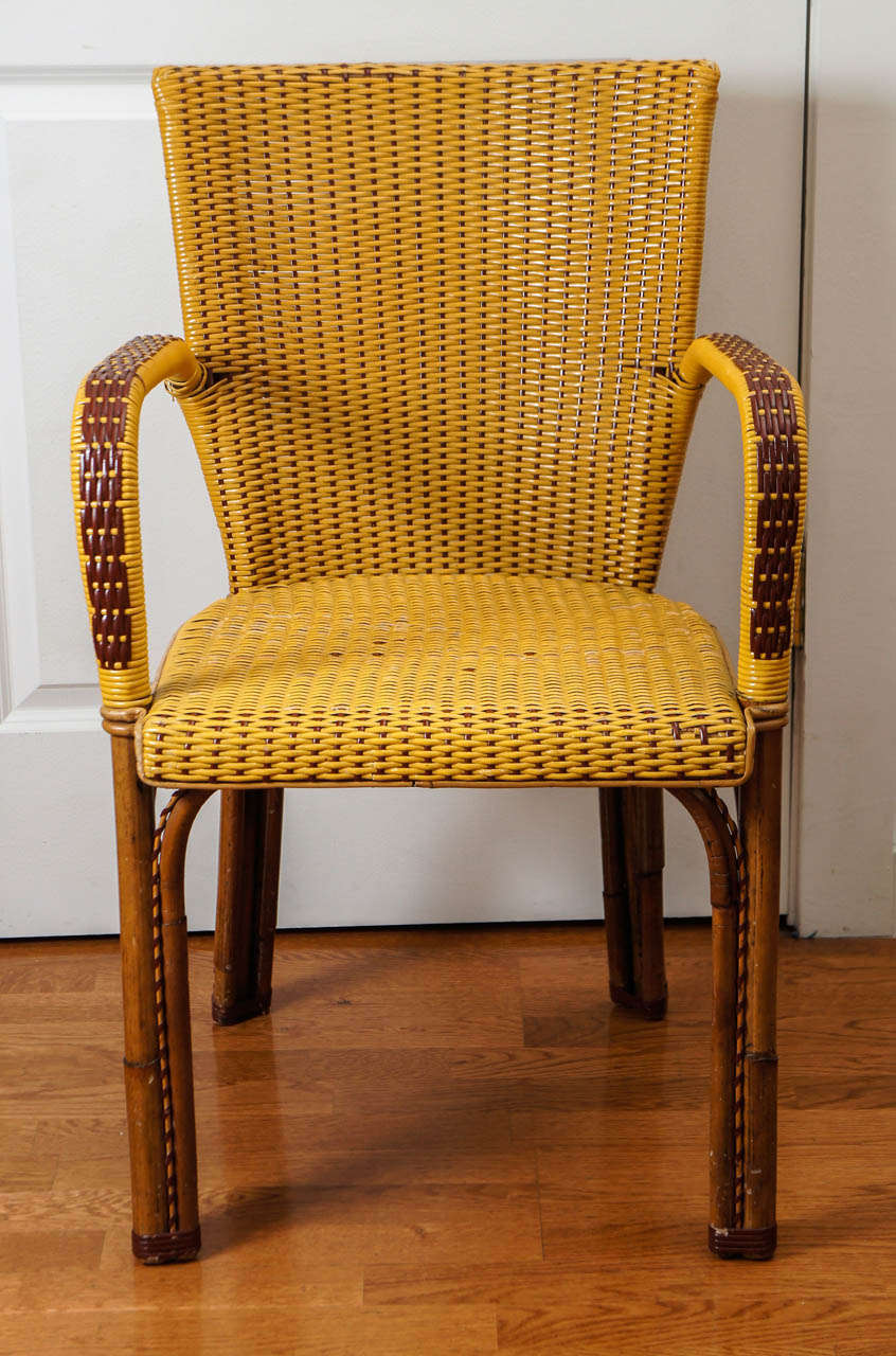 French Wicker Bistro Chairs At 1stdibs