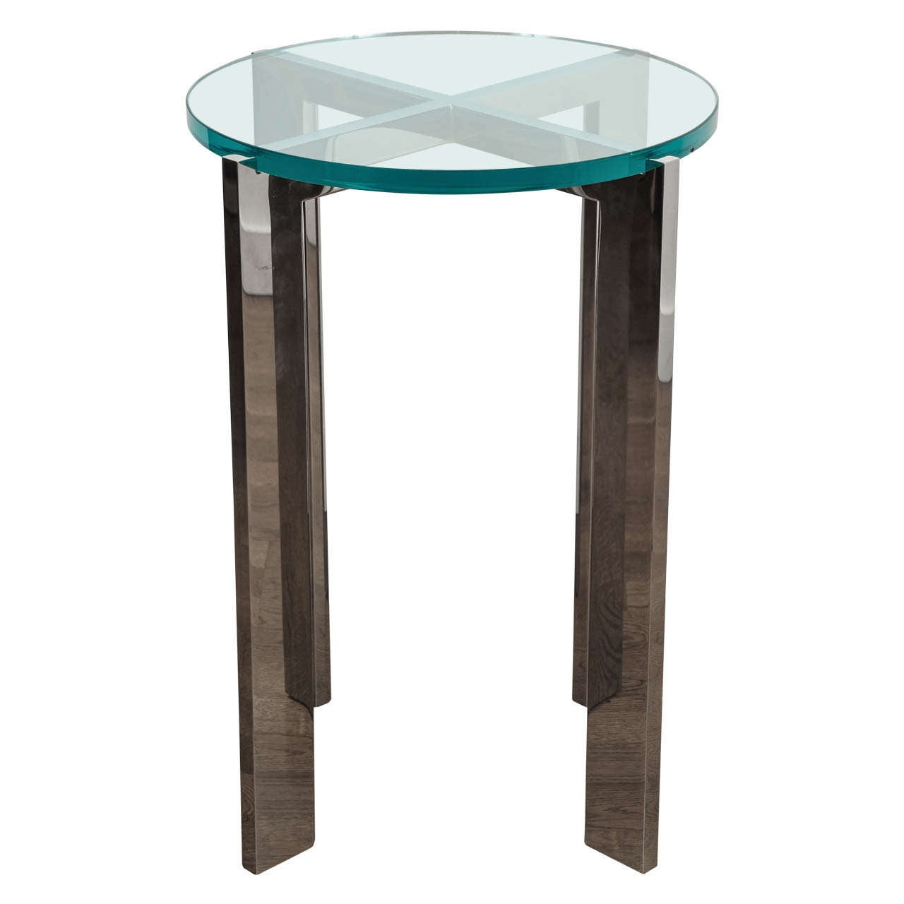 Holly Hunt, Glass And Chrome Side Table 1
