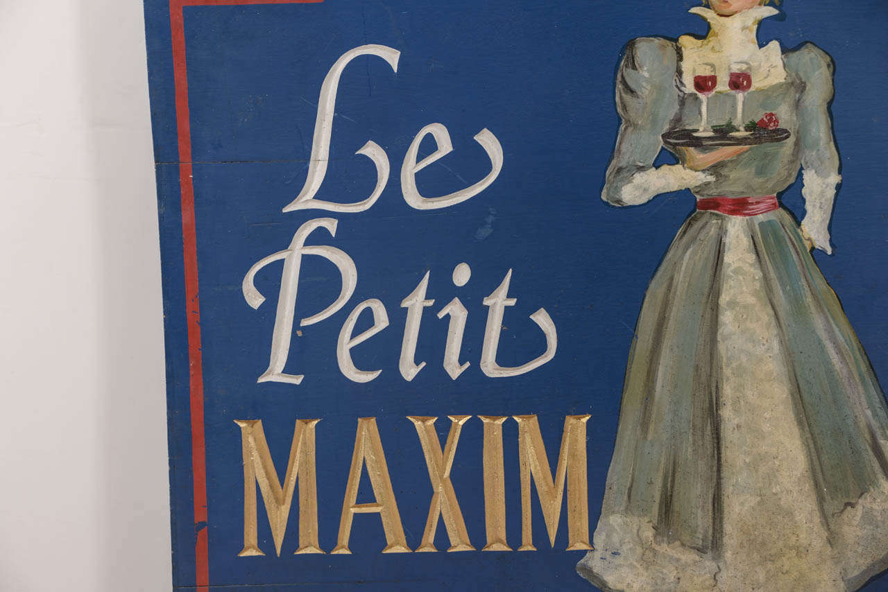 19th century le petite maxim french restaurant sign at for 19th century french cuisine