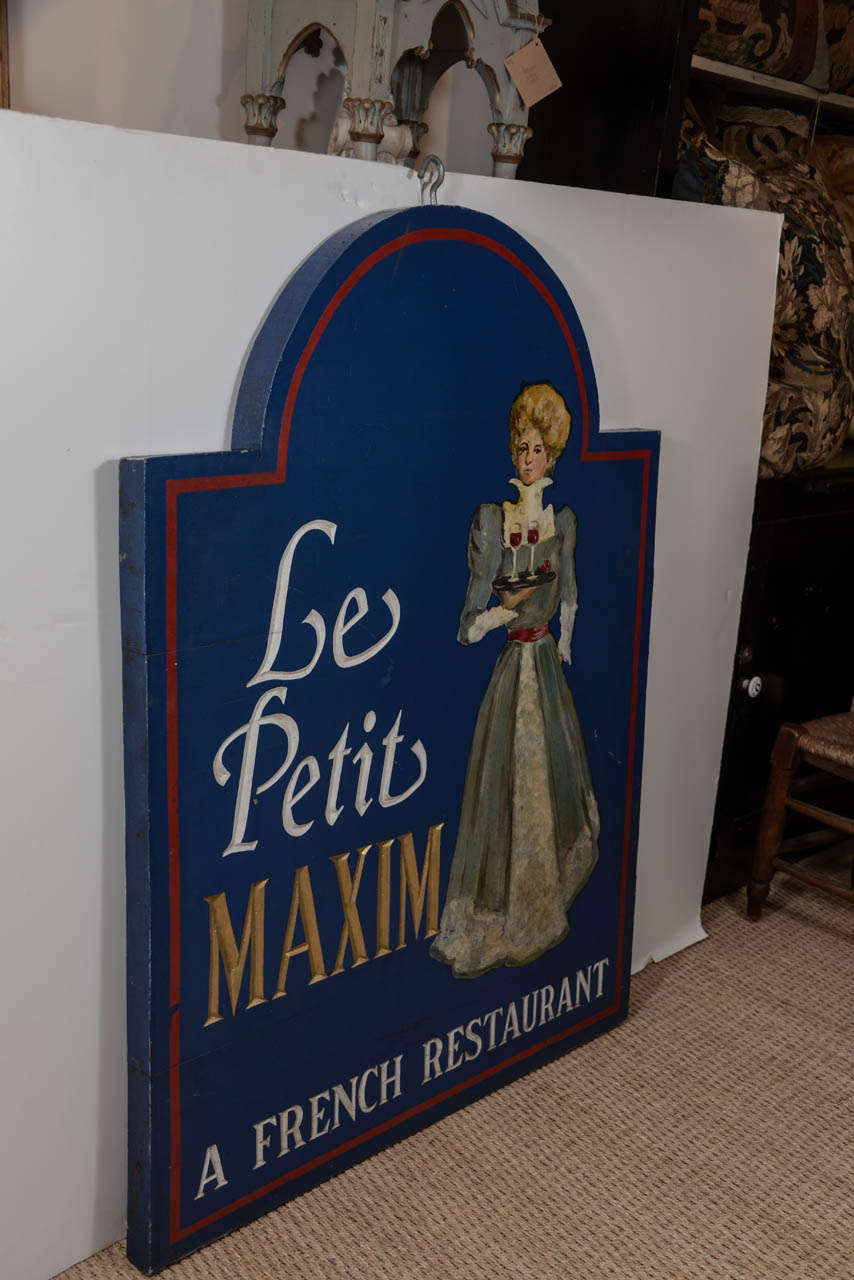 19th century le petit maxim french restaurant sign for sale at 1stdibs. Black Bedroom Furniture Sets. Home Design Ideas