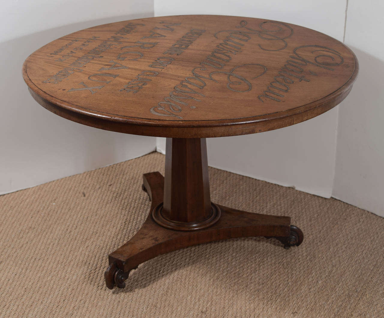 19th c french flip top wine or gaming table at 1stdibs for Table th rotate
