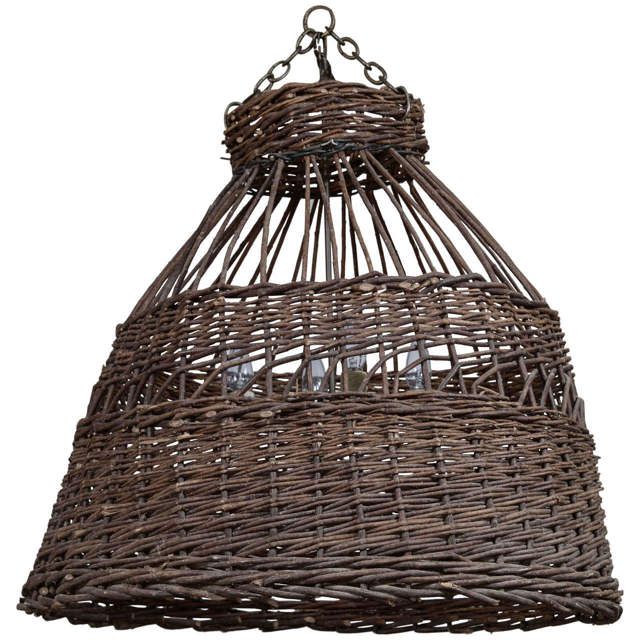 - Antique French Poultry Basket Chandelier For Sale At 1stdibs