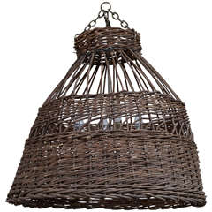 Antique French Poultry Basket Chandelier