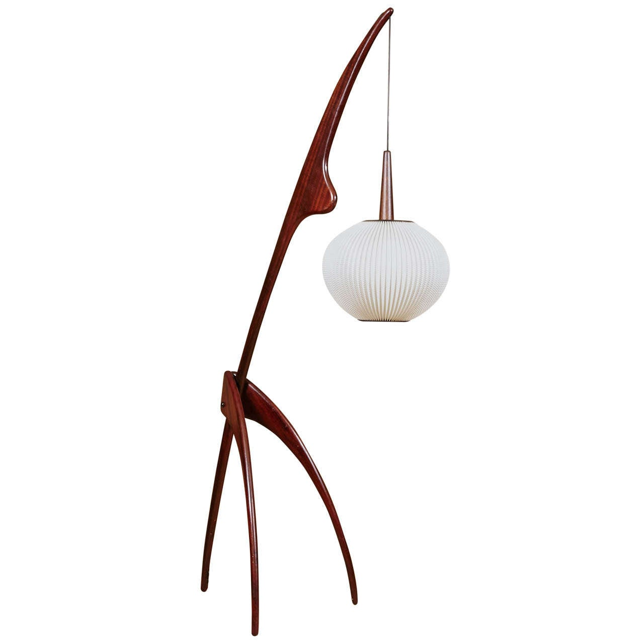 praying mantis floor lamp by rispal circa 1950 at 1stdibs. Black Bedroom Furniture Sets. Home Design Ideas