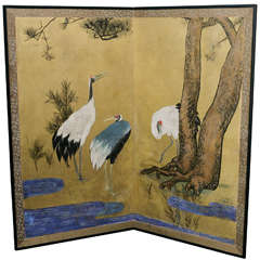 Japanese Meiji Period Screen