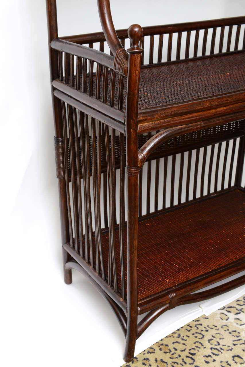 aesthetic manner bamboo book case or etagere at 1stdibs. Black Bedroom Furniture Sets. Home Design Ideas