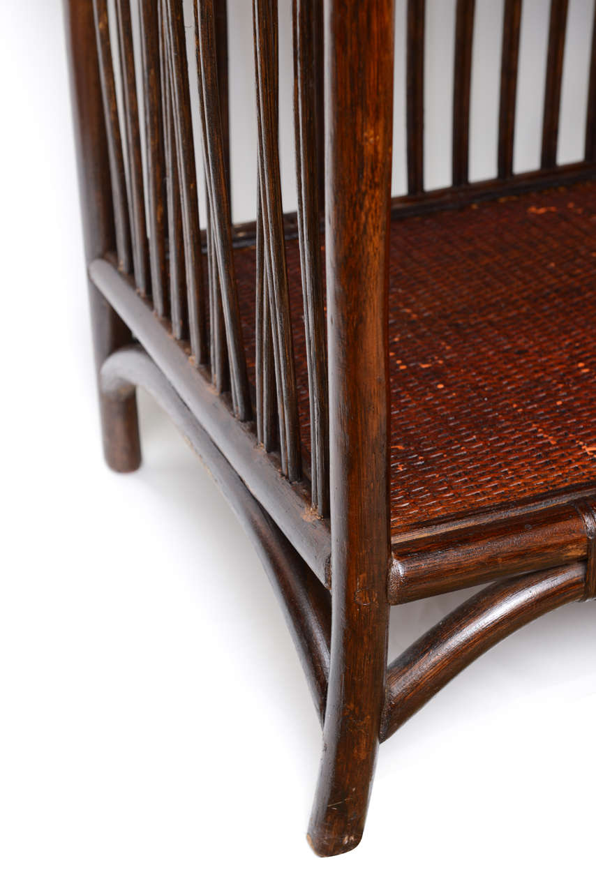 aesthetic manner bamboo book case or etagere at 1stdibs. Black Bedroom Furniture Sets. Home Design Ideas