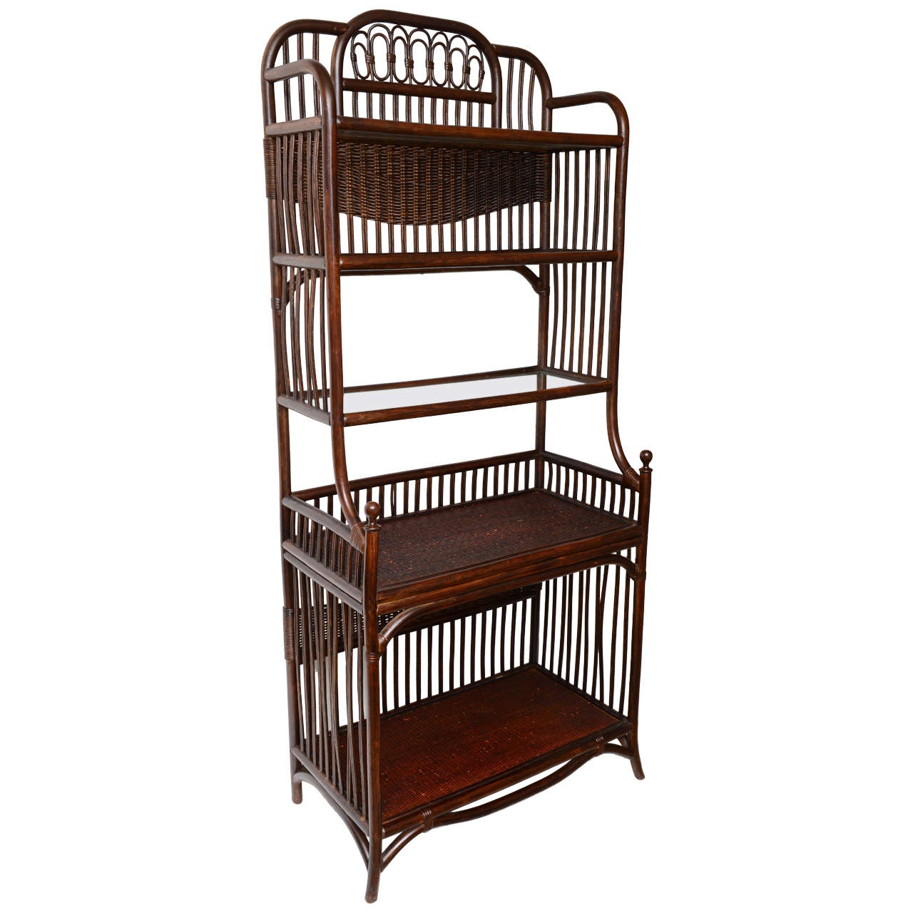 Aesthetic manner bamboo book case or etagere at 1stdibs - Etagere cases carrees ...