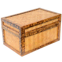 English Tortoise Bamboo Box