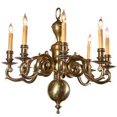 English Brass Chandelier