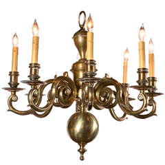 English Brass Chandelier