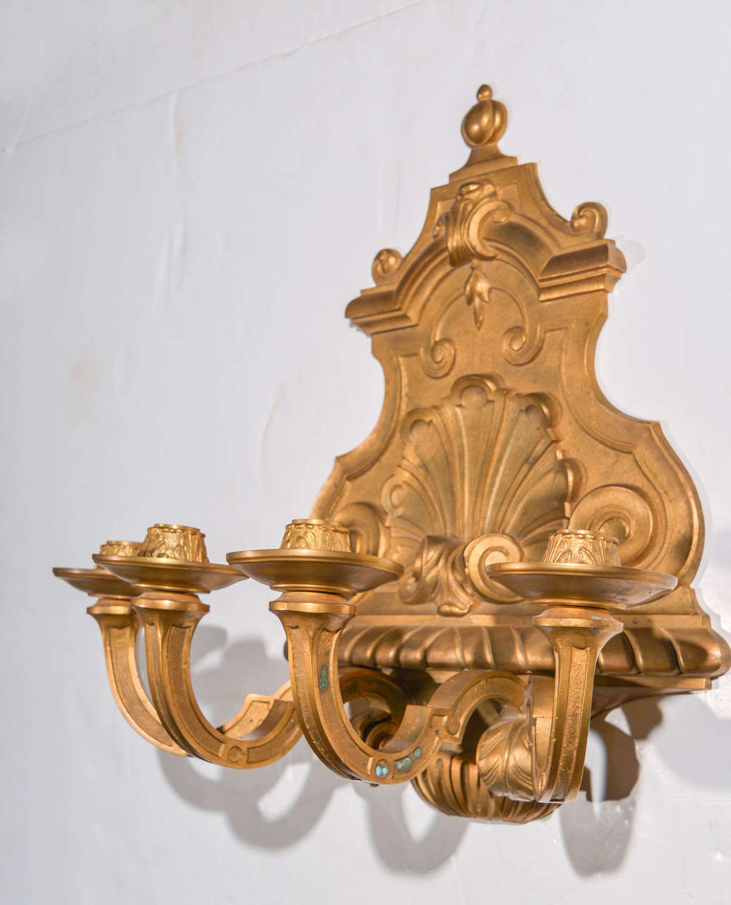 Bronze Wall Sconces For Candles : Pair of Continental Bronze Dore Candle Sconces For Sale at 1stdibs