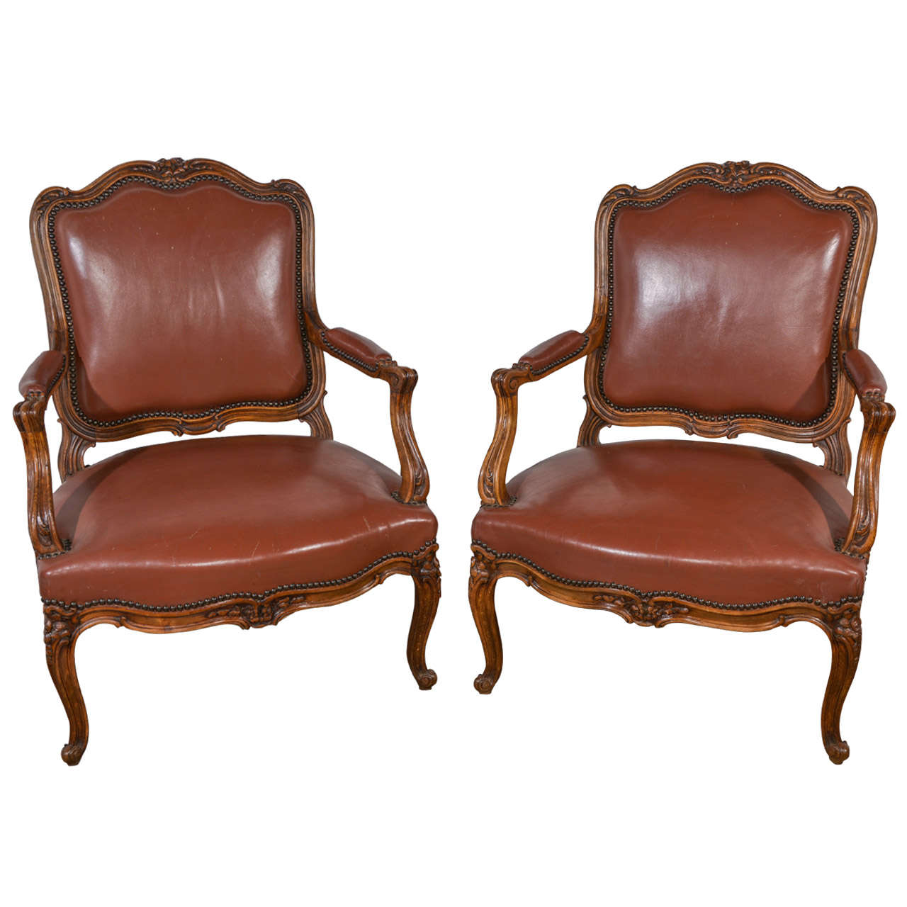Pair of French Carved Chairs