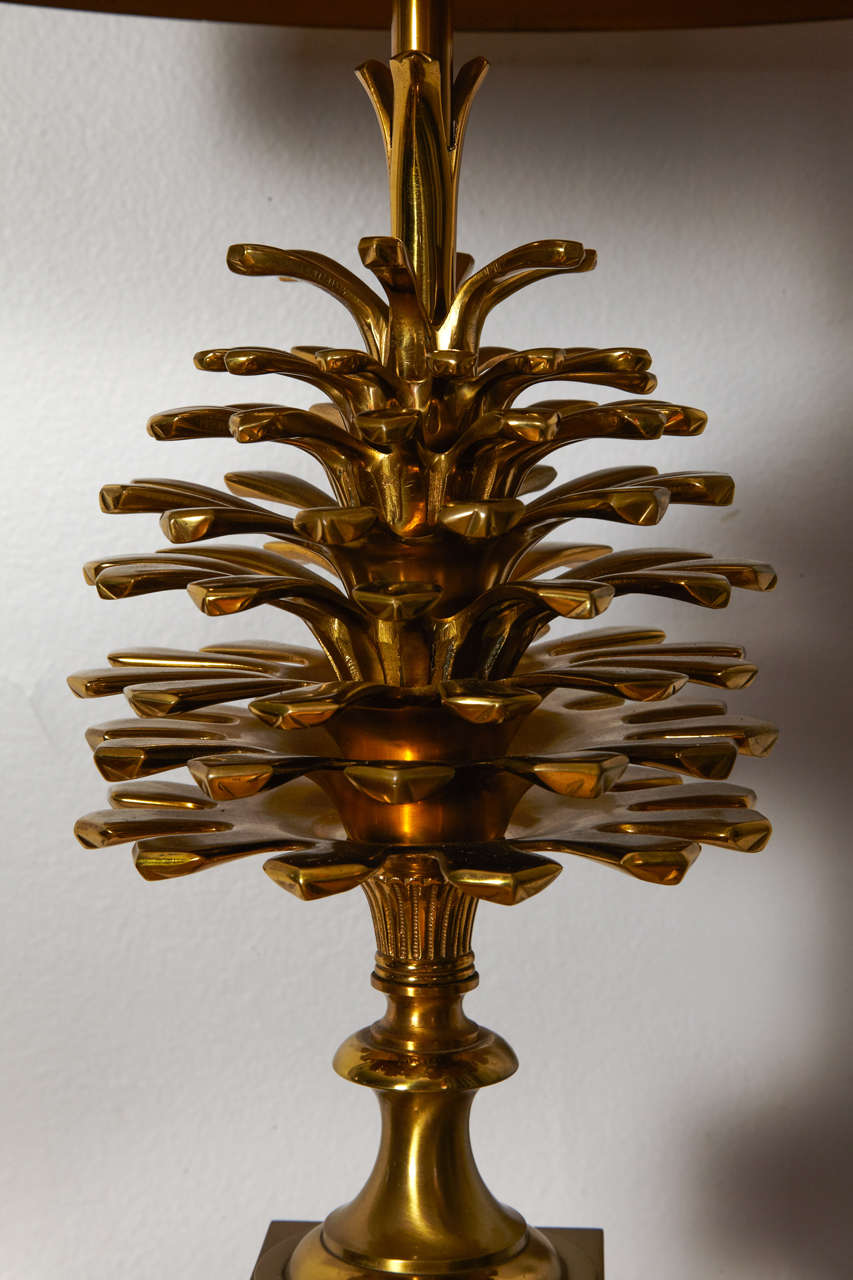 Awesome Pair Of 1970s Bronze Lamps By Maison Charles For