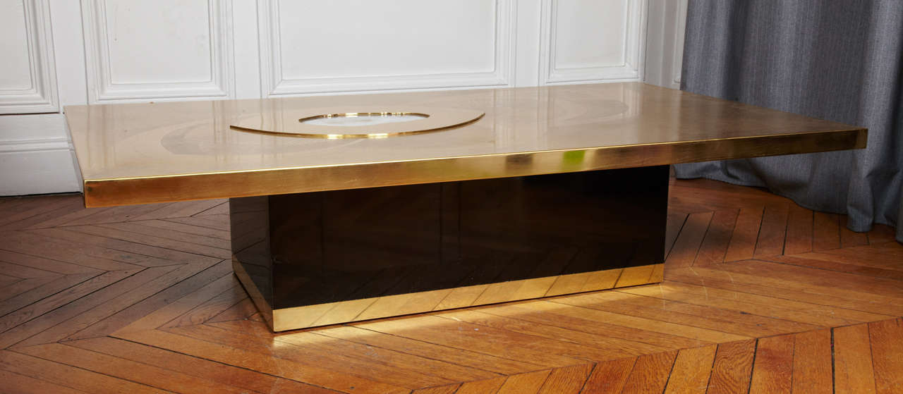 Awesome Etched Brass Cocktail Table By Willy Daro 2