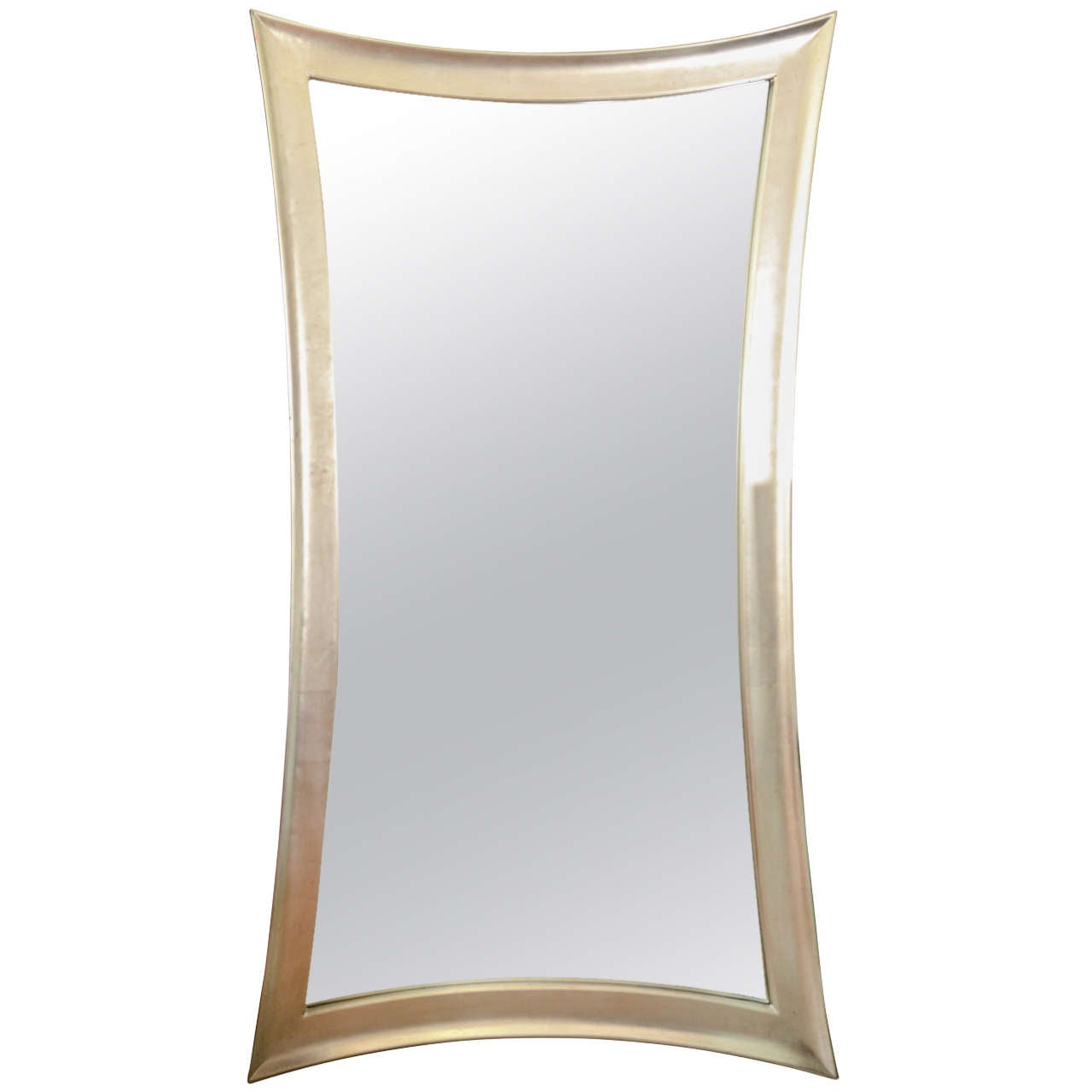 Full Length Silver Leaf Modern Mirror At 1stdibs
