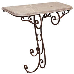 18th Century Wrought Iron Console