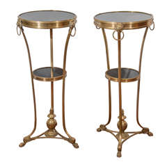 Empire Bronze Two Tiered Marble Topped Gueridons