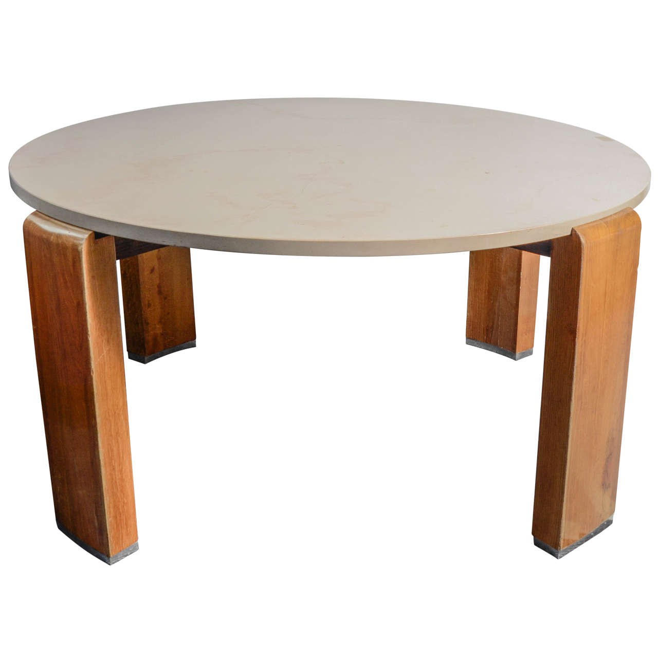 Round Pedestal Table By Jacques Adnet At 1stdibs