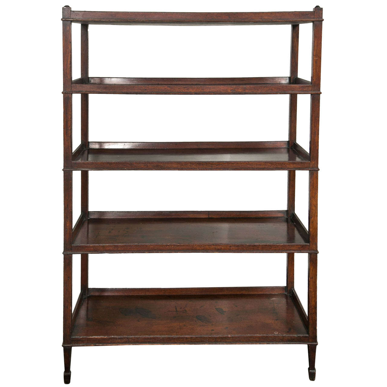 antique english hepplewhite mahogany etagere at 1stdibs. Black Bedroom Furniture Sets. Home Design Ideas