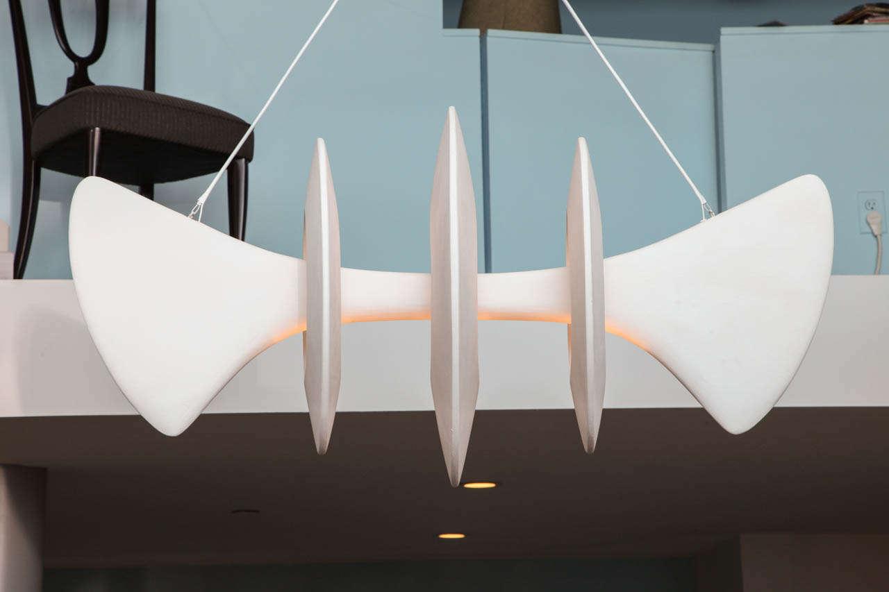 Bones, Studio-Built Ceiling Fixture by Alexandre Logé For Sale 1